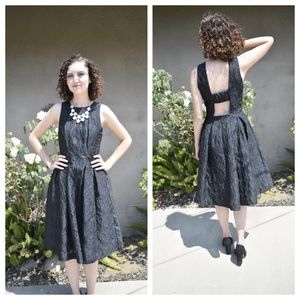 LIKE NEW Midi Fit & Flare Dress with Open Back